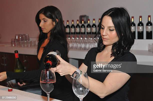 Bartender poses 1865 Cabernet Sauvignon during a Dinner Hosted By Alex Chang And Tom Colicchio during 2016 Food Network Cooking Channel South Beach...