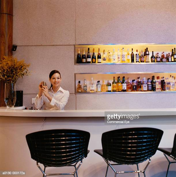 Bartender Preparing Cocktails