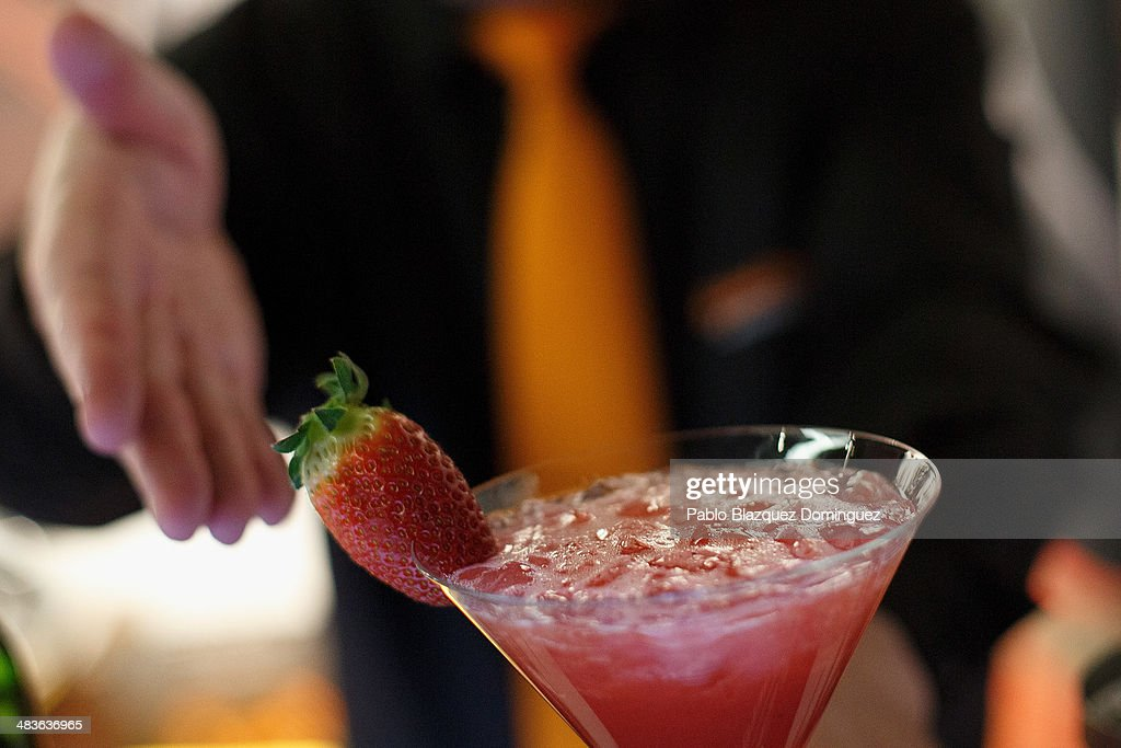 A bartender serves an Apache cocktail during the Mix&Shake congress at 'El Matadero' on April 9, 2014 in Madrid, Spain. Mix&Shake is a conference for professionals of the cocktail bartending industry.