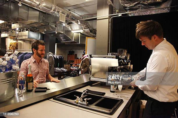 0fb81c8808 A bartender serves drinks at the GQ Nordstrom Launch PopUp Store at  Nordstrom s Treasure Bond Store