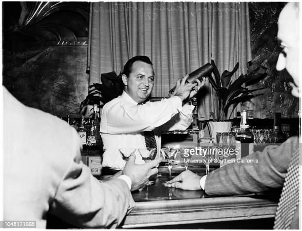 Bartenders Guild cocktail ompetition 8 October 1951 Walter Simpson Mrs EE BernardMax Stone E AngerosaMiss Caroline Leonetti