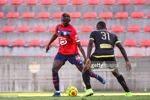 Barthelemy DIEDHIOU of Lille during the preseason soccer friendly match between Lille and Mouscron on July 18 2020 in Mouscron Belgium