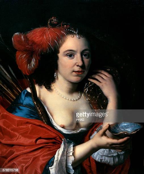 Bartholomeus van der Helst Dutch portrait painter Portrait of the Artist's Wife Anna du Pire as Granida National Gallery Prague Czech Republic