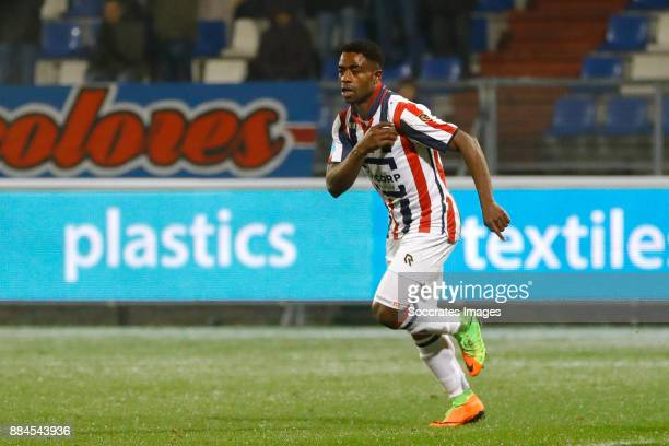 Bartholomew Ogbeche of Willem II celebrates 20 during the Dutch Eredivisie match between Feyenoord v Vitesse at the Stadium Feijenoord on December 2...