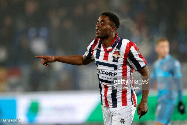 Bartholomew Ogbeche of Willem II celebrates 30 during the Dutch Eredivisie match between Feyenoord v Vitesse at the Stadium Feijenoord on December 2...