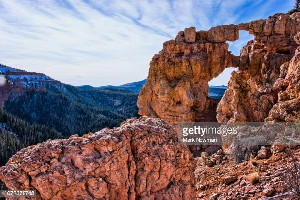 bartizan rock arch - double arch stock pictures, royalty-free photos & images