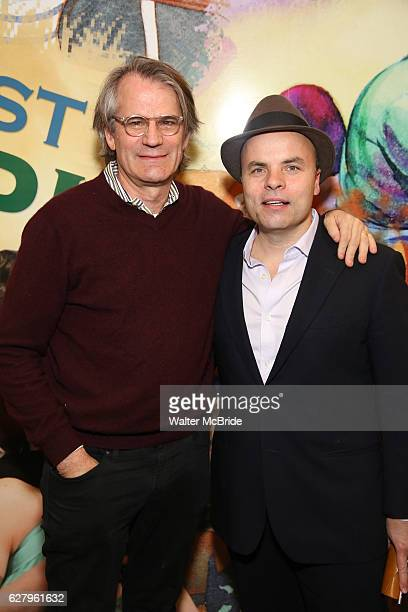 Bartlett Sher and J.T. Rogers attend the press reception for the Opening Night of the Lincoln Center Theater Production of 'The Babylon Line' at the...