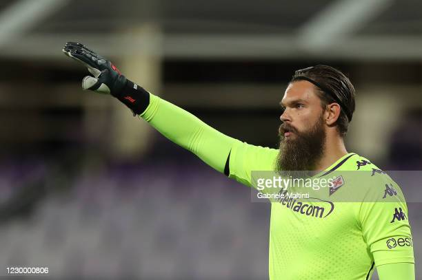 Bartlomiej Dragoski of ACF Fiorentina gestures during the Serie A match between ACF Fiorentina and Genoa CFC at Stadio Artemio Franchi on December 7,...