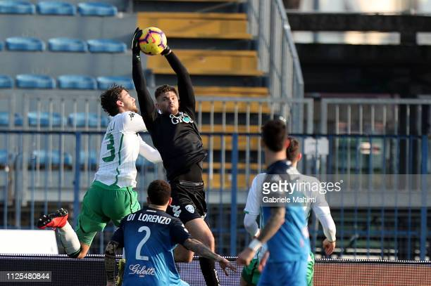 Bartlomiej Dragoski of Empoli FC in action during the Serie A match between Empoli and US Sassuolo at Stadio Carlo Castellani on February 17 2019 in...