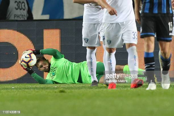 Bartlomiej Dragoski of Empoli FC in action during the Serie A match between Atalanta BC and Empoli at Stadio Atleti Azzurri d'Italia on April 15 2019...
