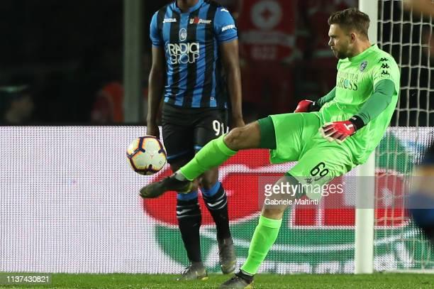 Bartlomiej Dragoski of Empoli FC in action during the Serie A match between Atalanta BC and Empoli at Stadio Atleti Azzurri d'Italia on April 15 2019...