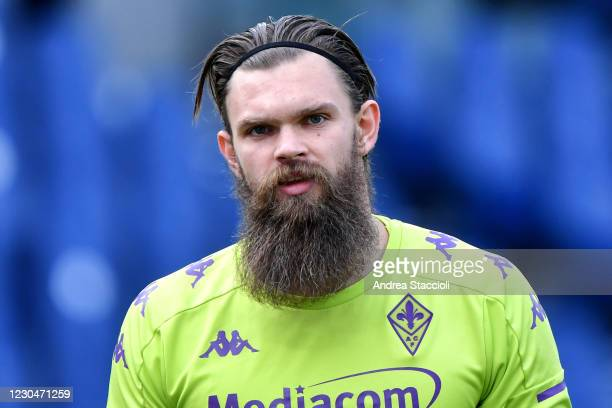 Bartlomiej Dragowski of ACF Fiorentina looks on during the warm up prior to the Serie A football match between SS Lazio and ACF Fiorentina. SS Lazio...