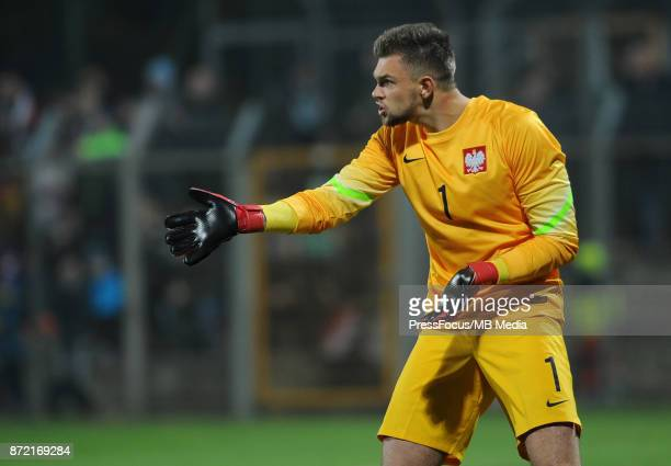 Bartlomiej Dragowski of Poland during the under 20 international friendly match between Poland and Portugal on November 9 2017 in Kluczbork Poland