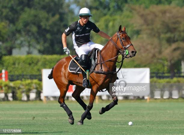 Barto Castagnola of Richard Mille rides against Valiente during The Palm Beach Open on March 15 2020 at the Grand Champions Polo Club in West Palm...