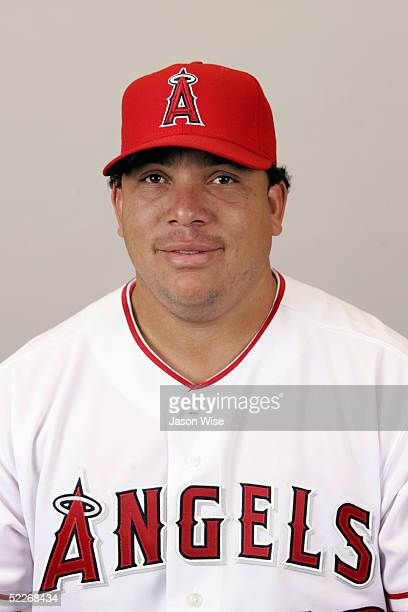 Bartolo Colon of the Los Angeles Angels of Anaheim poses for a portrait during photo day at Tempe Diablo Stadium on February 24 2005 in Tempe Arizona