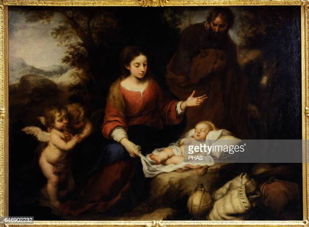 Bartolome Esteban Murillo Spanish baroque painter Rest on the Flight into Egypt 16601665 The State Hermitage Museum Saint Petersburg Russia