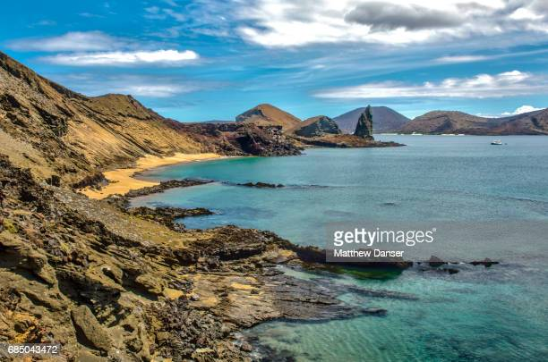 bartolome island - galapagos islands national park stock photos and pictures