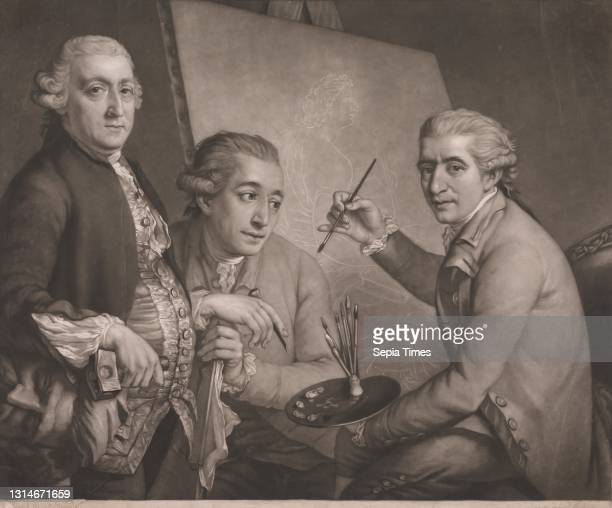Bartolozzi, Cipriani and Carlini, John Raphael Smith, 1752–1812, British, after John Francis Rigaud, 1742–1810, French, active in Britain Mezzotint,...