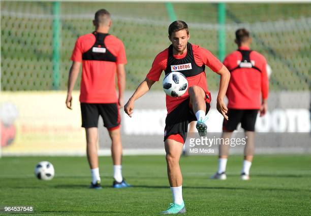 Bartosz Bereszynski during a training session of the Polish national team at Arlamow Hotel during the second phase of preparation for the 2018 FIFA...