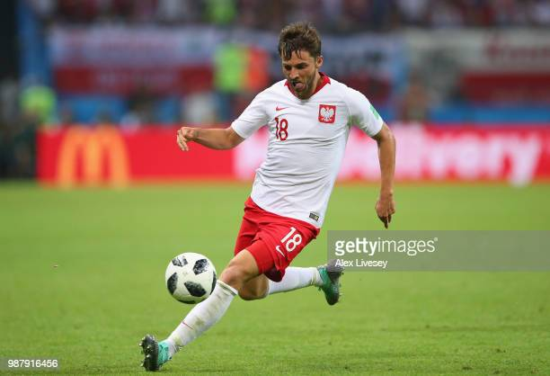Bartosz Bereszynski of Poland during the 2018 FIFA World Cup Russia group H match between Poland and Colombia at Kazan Arena on June 24 2018 in Kazan...