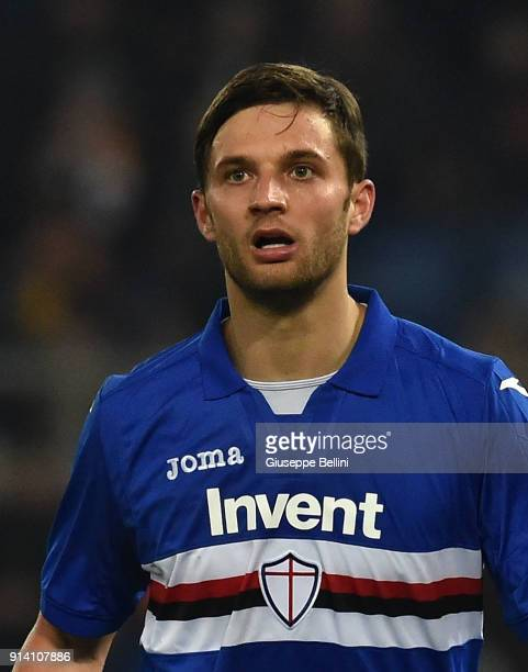 Bartosz Bereszynski of UC Sampdoria in action during the serie A match between AS Roma and UC Sampdoria at Stadio Olimpico on January 28 2018 in Rome...