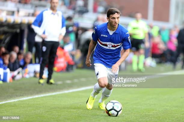 Bartosz Bereszynski of UC Sampdoria in action during the Serie A football match between Us Sampdoria and Ac Milan Uc Sampdoria wins 20 over Ac Milan