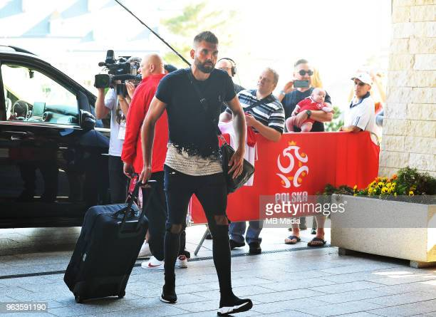 Bartosz Bialkowski arrive at Arlamow Hotel for the second phase of preparation for the 2018 FIFA World Cup Russia on May 29 2018 in Arlamow Poland