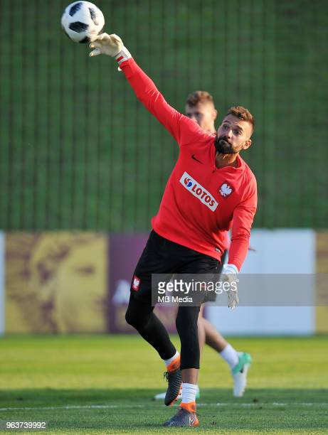 Bartosz Bialkowski during a training session of the Polish national team at Arlamow Hotel during the second phase of preparation for the 2018 FIFA...