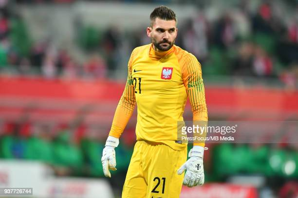 Bartosz Bialkowski goalkeeper of Poland looks on during the international friendly match between Poland and Nigeria at the Municipal Stadium on March...