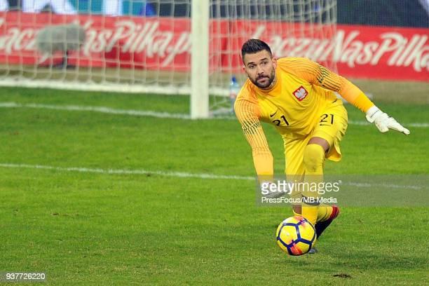 Bartosz Bialkowski goalkeeper of Poland throws the ball during the international friendly match between Poland and Nigeria at the Municipal Stadium...