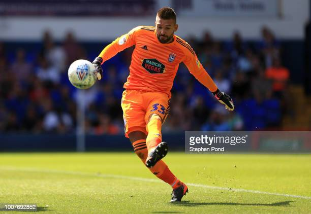 Bartosz Bialkowski of Ipswich Town during the preseason friendly match between Ipswich Town and West Ham United at Portman Road on July 28 2018 in...