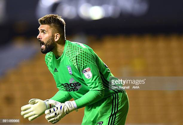 Bartosz Bialkowski of Ipswich Town during the Sky Bet Championship match between Wolverhampton Wanderers v Ipswich Town at Molineux on August 16 2016...