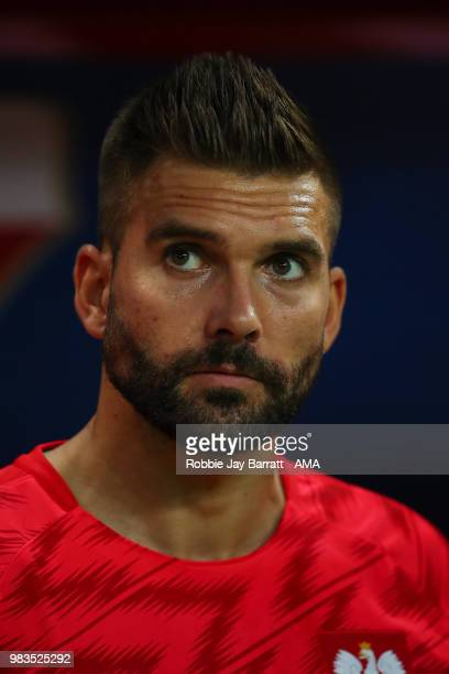 Bartosz Bialkowski of Poland during the 2018 FIFA World Cup Russia group H match between Poland and Colombia at Kazan Arena on June 24 2018 in Kazan...