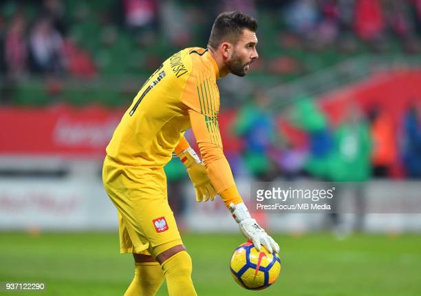 Bartosz Bialkowski of Poland during the international friendly match between Poland and Nigeria at the Municipal Stadium on March 23 2018 in Wroclaw...