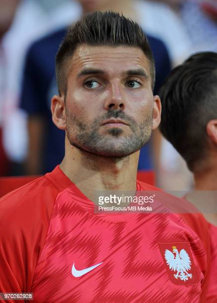 Bartosz Bialkowski of Poland looks on before the International Friendly match between Poland and Chile on June 8 2018 in Poznan Poland