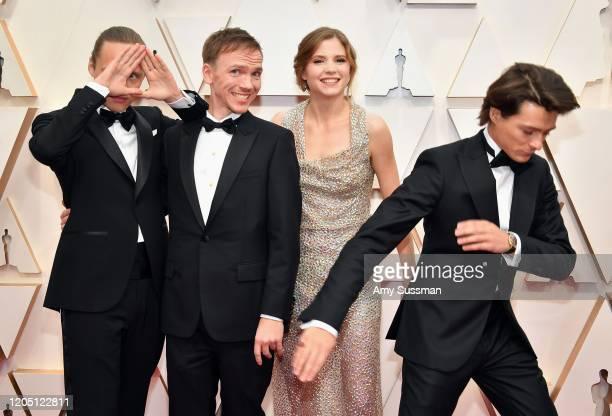 Bartosz Bielenia Tomasz Zietek director Jan Komasa and Eliza Rycembel attend the 92nd Annual Academy Awards at Hollywood and Highland on February 09...