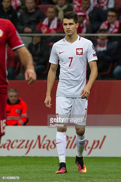 Bartosz Kapustka during the 2018 FIFA World Cup qualification match between Poland and Armenia national football teams at National Stadium in Warsaw...