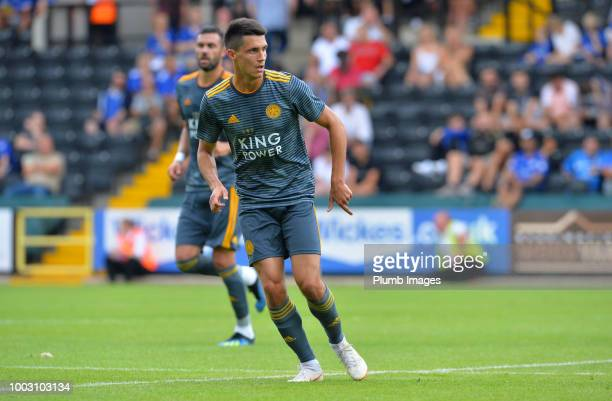 Bartosz Kapustka of Leicester City gestures during the preseason friendly match between Notts County and Leicester City at Meadow Lane on July 21st...