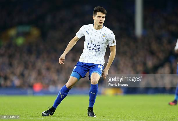 Bartosz Kapustka of Leicester City in action during the FA Cup third round tie between Everton and Leicester City at Goodison Park on January 07 2017...