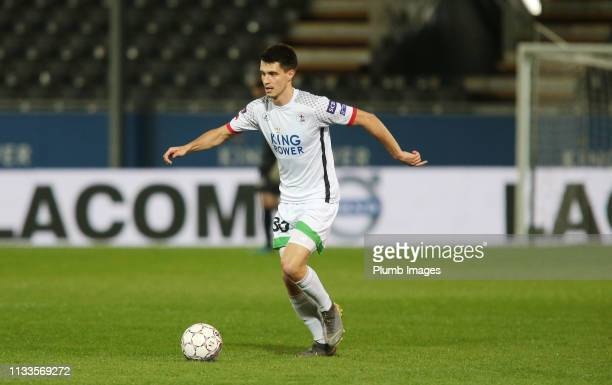 Bartosz Kapustka of OH Leuven in action during the Proximus League play down match between OH Leuven and AFC Tubize at Den Dreef Stadium on March...