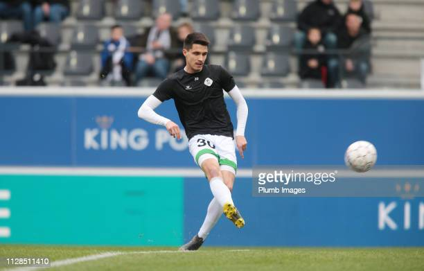 Bartosz Kapustka of OH Leuven warms up ahead of the Proximus League match between OH Leuven and BeerschotWilrijk at King Power at Den Dreef Stadion...