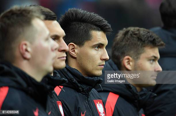 Bartosz Kapustka of Poland during the Group E First Round World Cup Qualifier between Poland and Armenia at the Polish National Stadium on October 11...