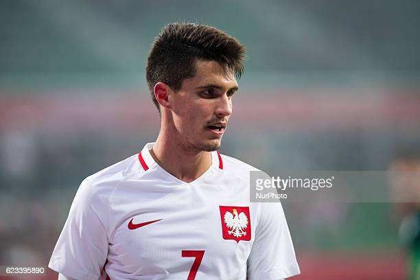 Bartosz Kapustka of Poland during the international friendly football match Poland vs Slovenia on November 14 2016 in Wroclaw