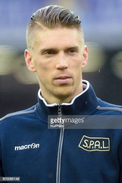 Bartosz Salamon of Spal during the Serie A TIM match between SSC Napoli and Spal at Stadio San Paolo Naples Italy on 18 February 2018