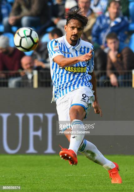 Bartosz Salamon of Spal in action during the Serie A match betweenSpal and US Sassuolo at Stadio Paolo Mazza on October 22 2017 in Ferrara Italy