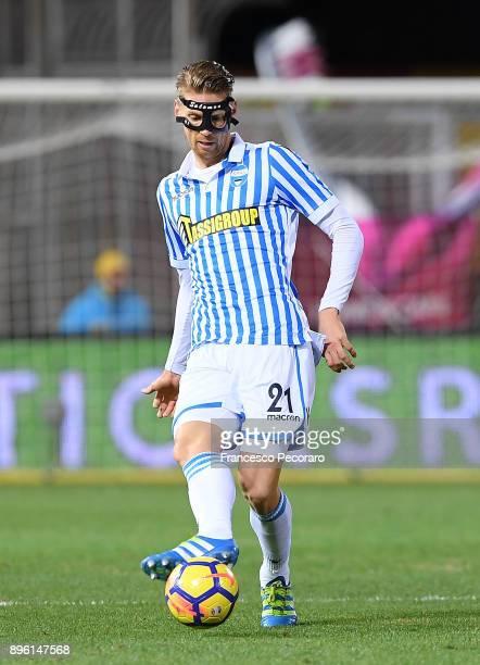 Bartosz Salamon of Spal in action during the Serie A match between Benevento Calcio and Spal at Stadio Ciro Vigorito on December 17 2017 in Benevento...