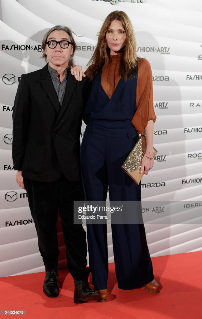 Baruc Corazon and model Cristina Piaget attend the 'Fashion & arts' photocall at Reina Sofia museum on February 23, 2017 in Madrid, Spain.