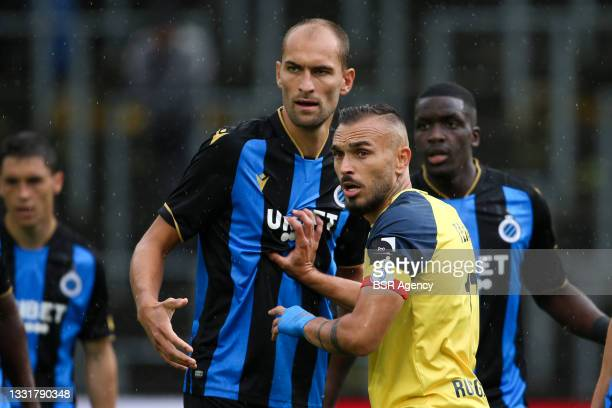 Bas Dost of Club Brugge during the Jupiler Pro League match between Union Saint Gilloise and Club Brugge at Joseph Marien Stadion on August 1, 2021...