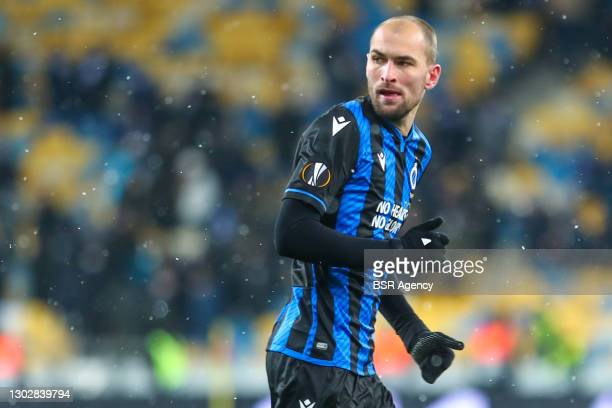 Bas Dost of Club Brugge during the UEFA Europa League match between FC Dynamo Kyiv and Club Brugge at NSK Olimpiejsky on February 18, 2021 in Kyiv,...