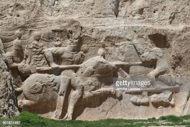 Bas reliefs Darius I tomb